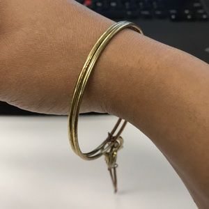 Gold Bracelets With Connected Chain